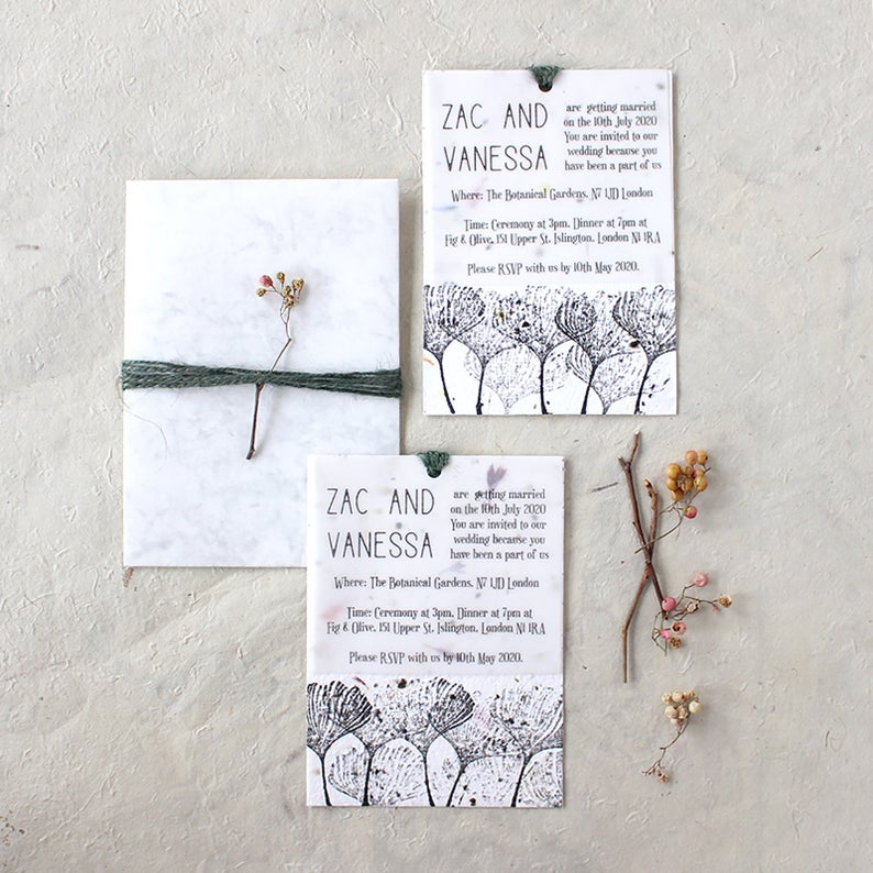 My Natural Wedding invitatoin eco